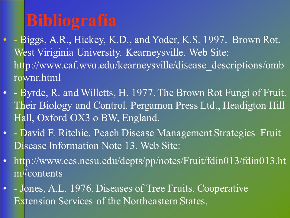 Bibliografía - Biggs, A.R., Hickey, K.D., and Yoder, K.S.