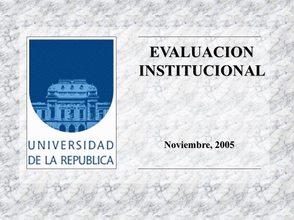 EVALUACION INSTITUCIONAL Noviembre, 2005