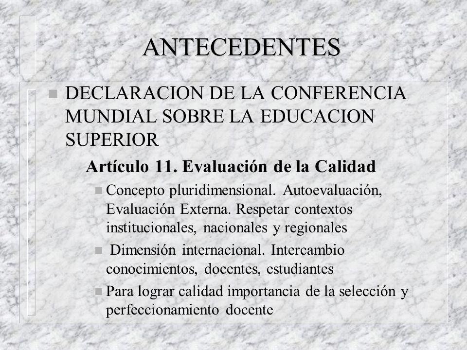UNIVERSIDAD DE LA REPUBLICA LINEAMIENTOS PARA UN PROGRAMA DE EVALUACION INSTITUCIONAL Octubre,1999