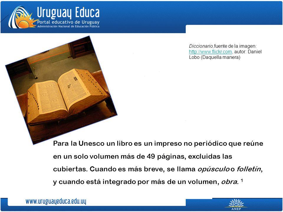 Para la Unesco un libro es un impreso no periódico que reúne en un solo volumen más de 49 páginas, excluidas las cubiertas.