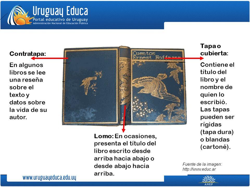 Para discutir con tus compañeros: ¿Por qué los títulos de los libros aparecen también escritos en el lomo.