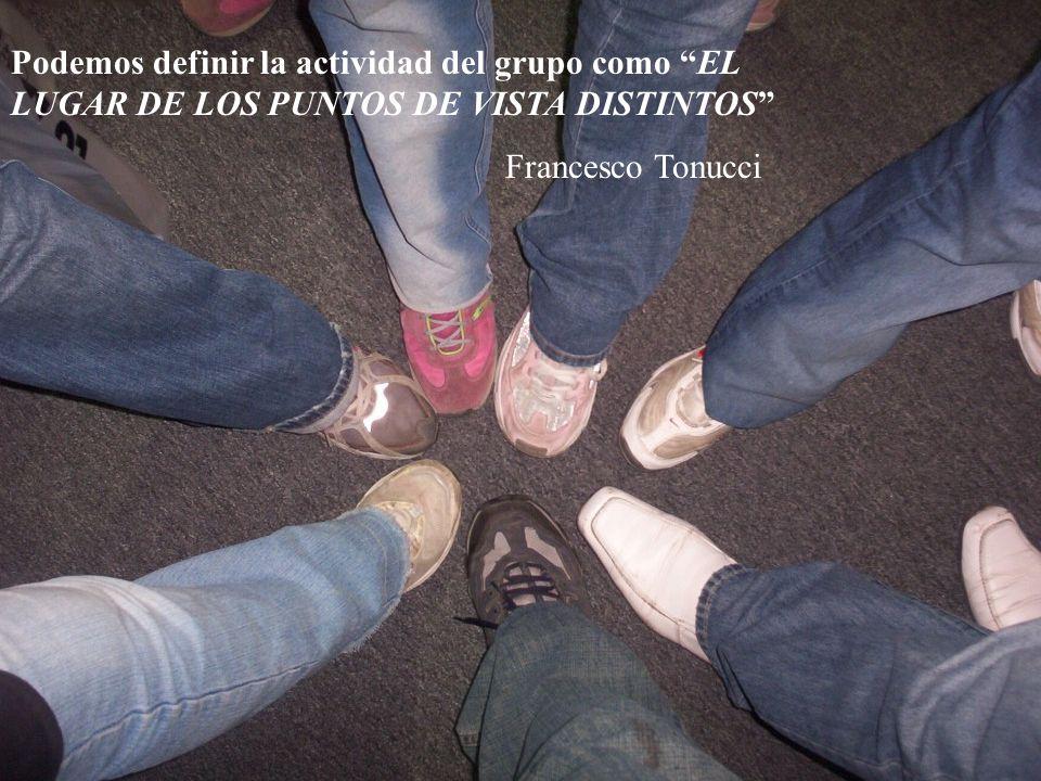 Podemos definir la actividad del grupo como EL LUGAR DE LOS PUNTOS DE VISTA DISTINTOS Francesco Tonucci