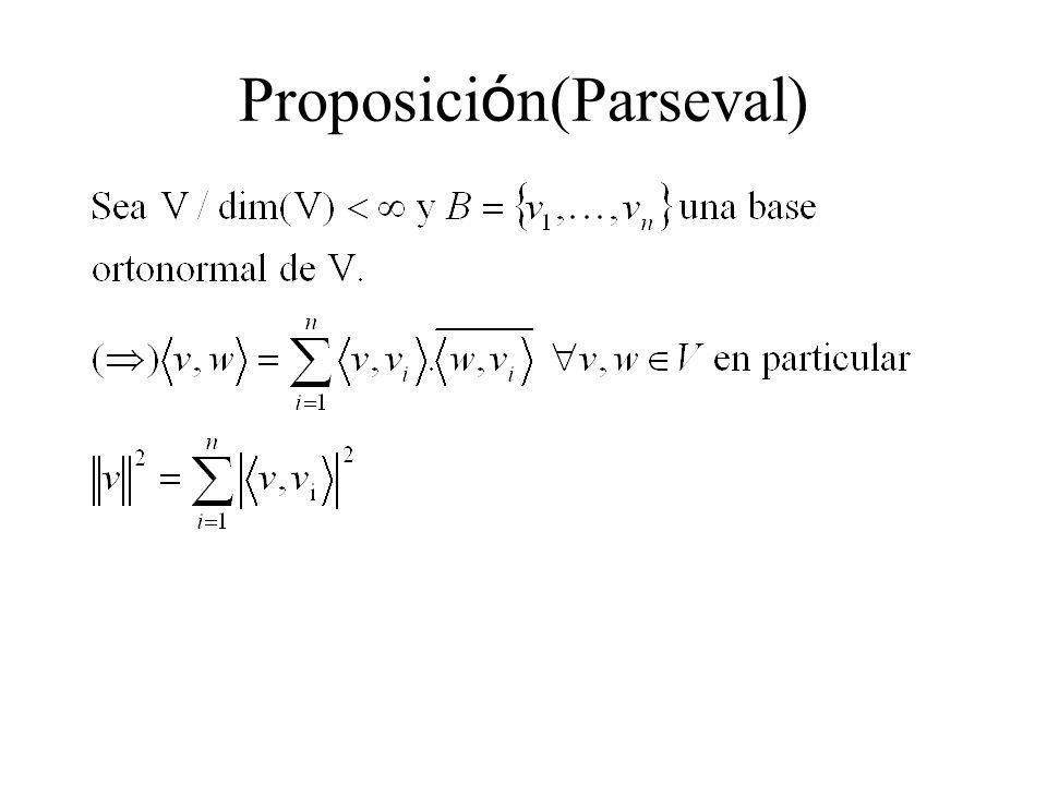 Proposici ó n(Parseval)