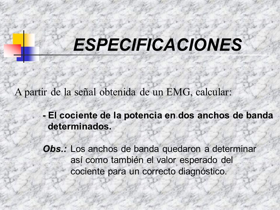 OBJETIVO SEÑAL EN EL TIEMPO SEÑAL EN FRECUENCIA FFT AREA COCIENTE