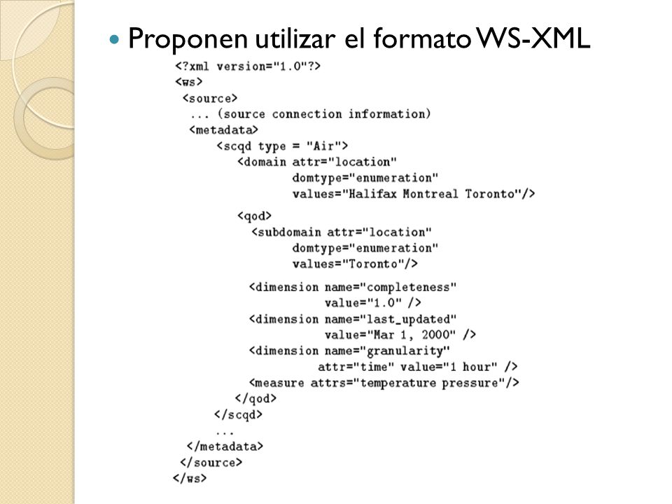 Proponen utilizar el formato WS-XML