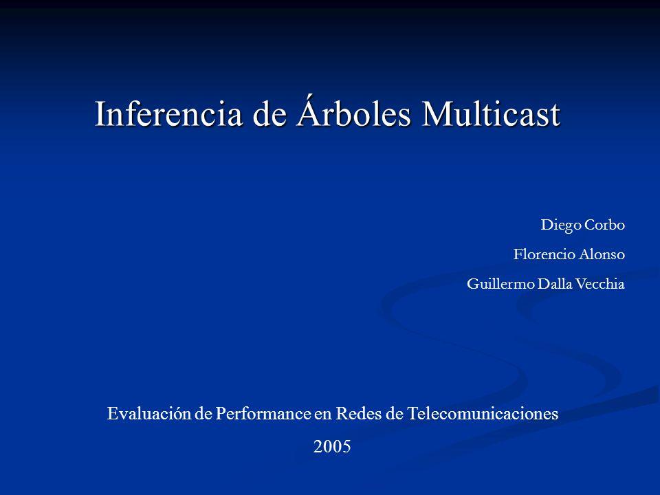 Inferencia de Árboles Multicast Evaluación de Performance en Redes de Telecomunicaciones 2005 Diego Corbo Florencio Alonso Guillermo Dalla Vecchia