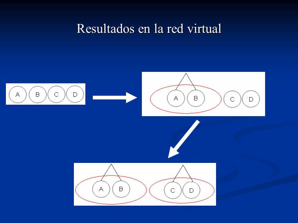Resultados en la red virtual