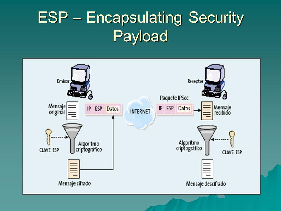 IPcomp – IP Payload Compression la idea de este protocolo es el poder comprimir un paquete luego de ser encriptado.