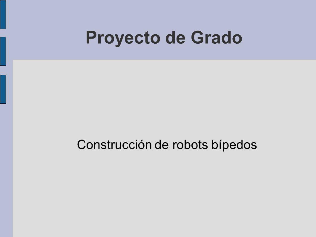 Descripción general Alcance del proyecto: – Construir un robot móvil de dos patas que sea capaz de desplazarse cuasiestáticamente, con la posibilidad de realizar el seguimiento de un objeto o su evasión Restricciones: – Costo – Tiempo