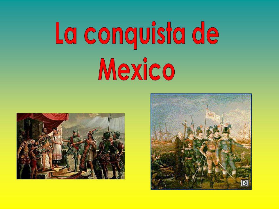 Al frente de 600 hombres, Hernán Cortes partió de Cuba en dirección a Yucatán donde encontraron a un naufrago español que conocía la lengua maya y por ello se ofreció de interprete.