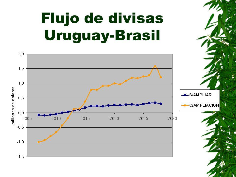 Flujo de divisas Uruguay-Brasil