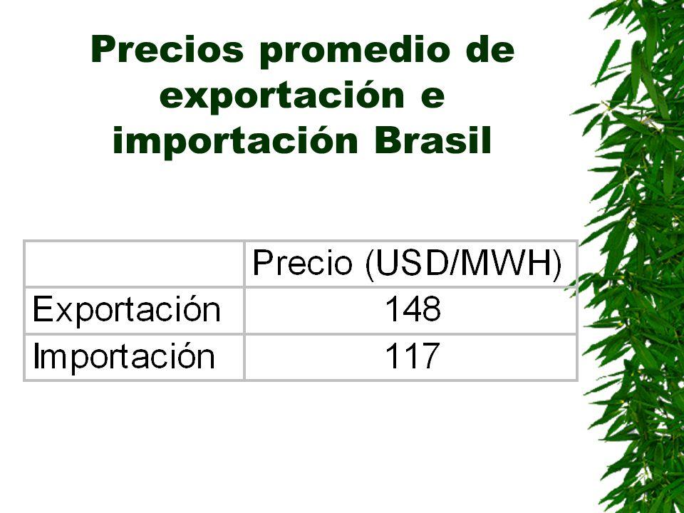 Precios promedio de exportación e importación Brasil