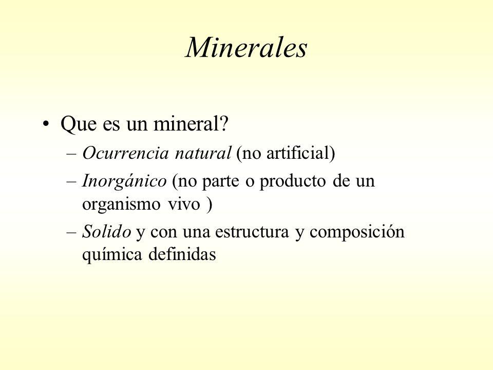 Minerales Que es un mineral.
