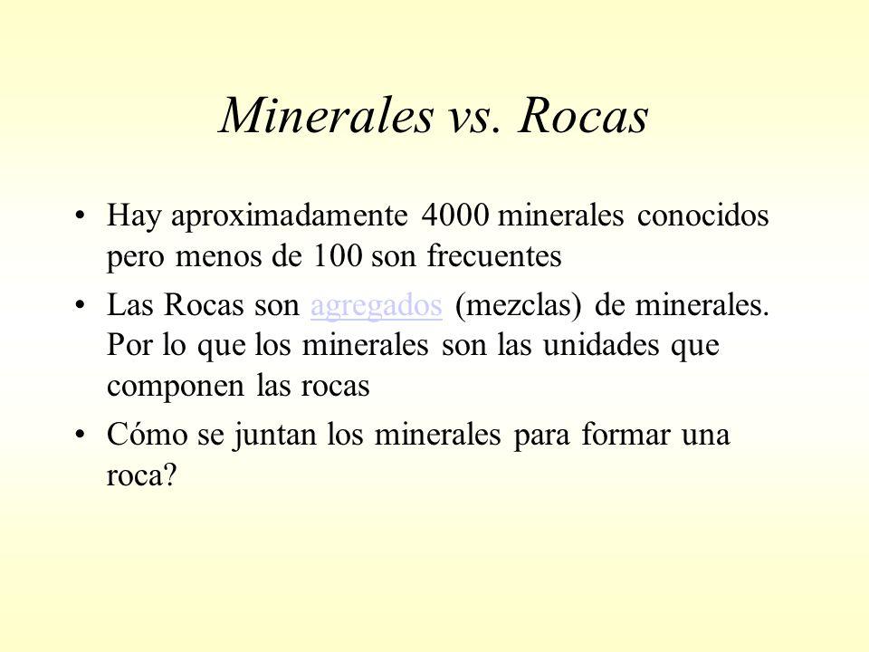 Minerales vs.