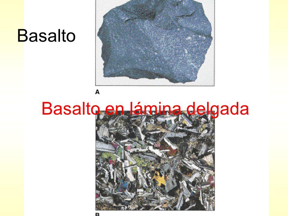 Basalto Basalto en lámina delgada
