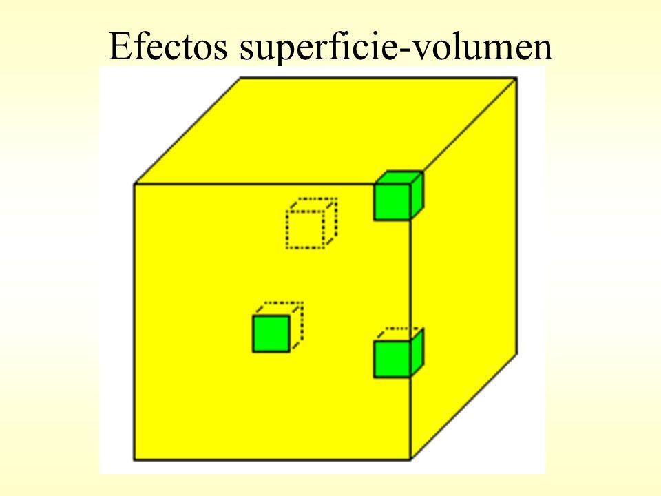 Efectos superficie-volumen