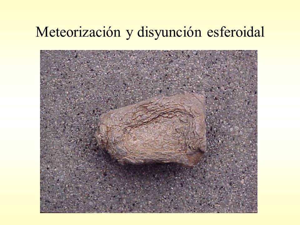 Meteorización y disyunción esferoidal