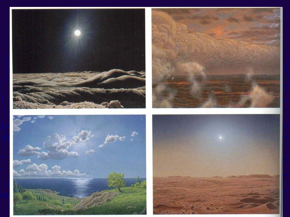 ESTRUCTURA GENERICA (para un planeta cualquiera) ABSORCIÓN: Rayos X: en termosfera UV: estratósfera Visible: no se filtra IR: balance térmico con superficie y atmósfera Depende de la composición de la atmósfera del planeta