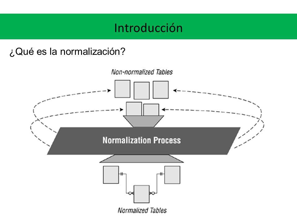 Introducción ¿Por qué es importante la normalización.