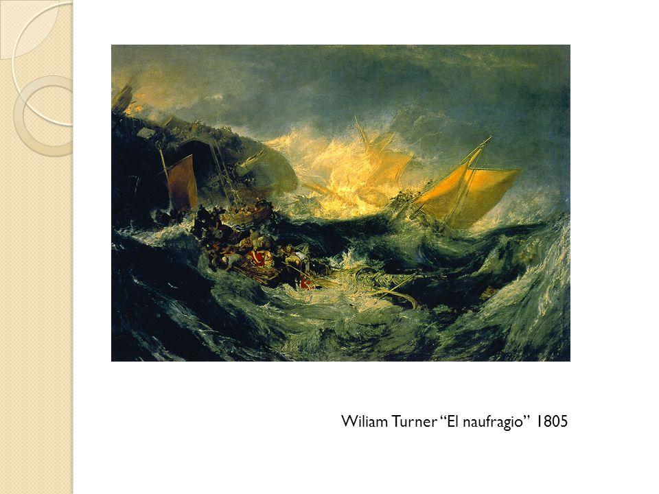 Wiliam Turner El naufragio 1805