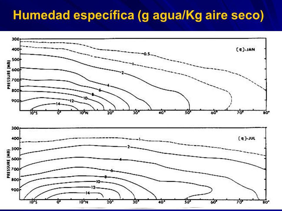 Humedad específica (g agua/Kg aire seco)