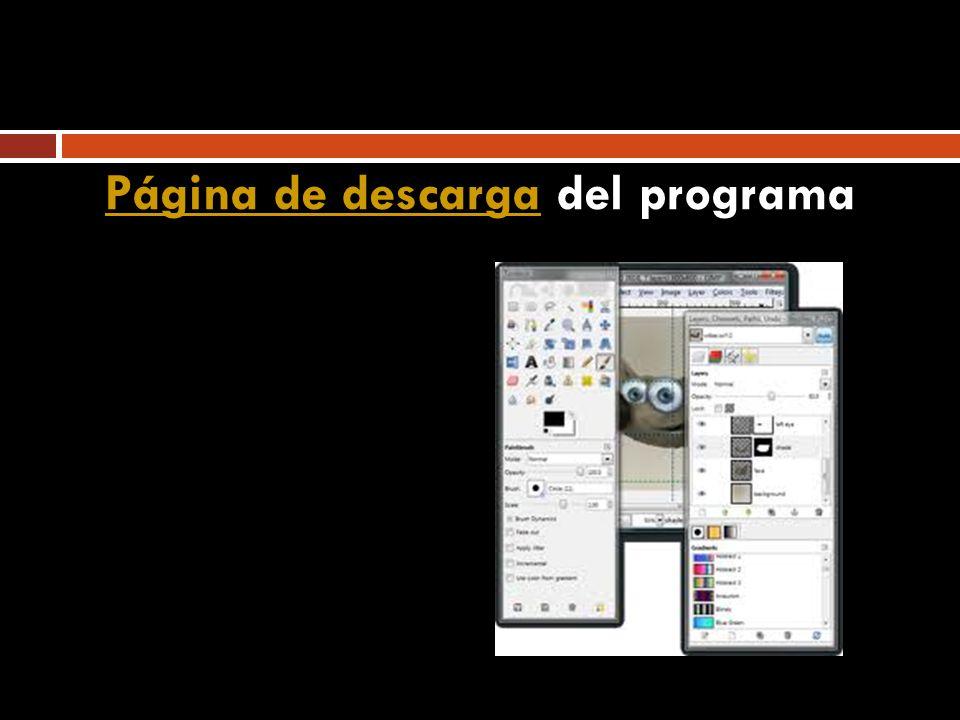 Página de descargaPágina de descarga del programa