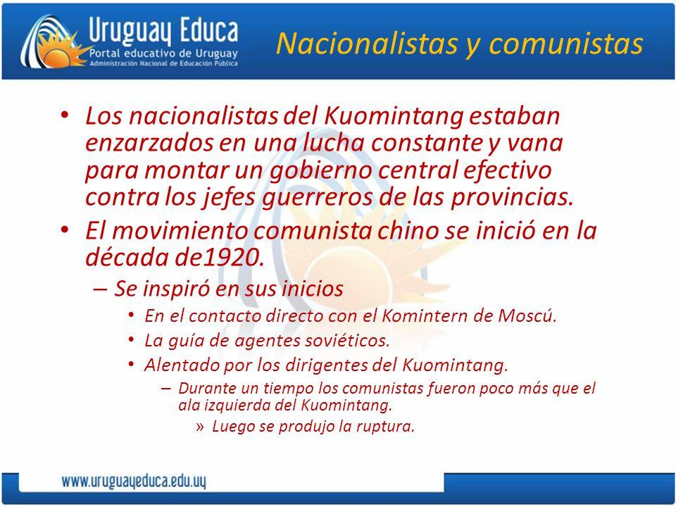 Las luchas entre comunistas y nacionalistas 1926 campaña nacionalista de persecución y asesinato de los comunistas.
