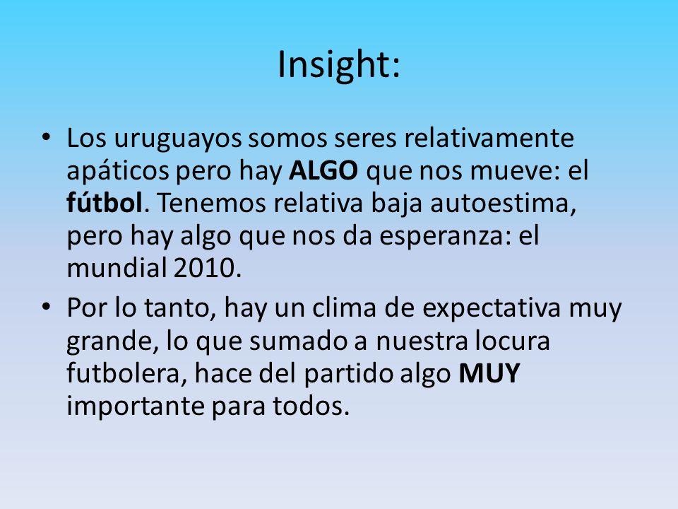 Insight: Los uruguayos somos seres relativamente apáticos pero hay ALGO que nos mueve: el fútbol.