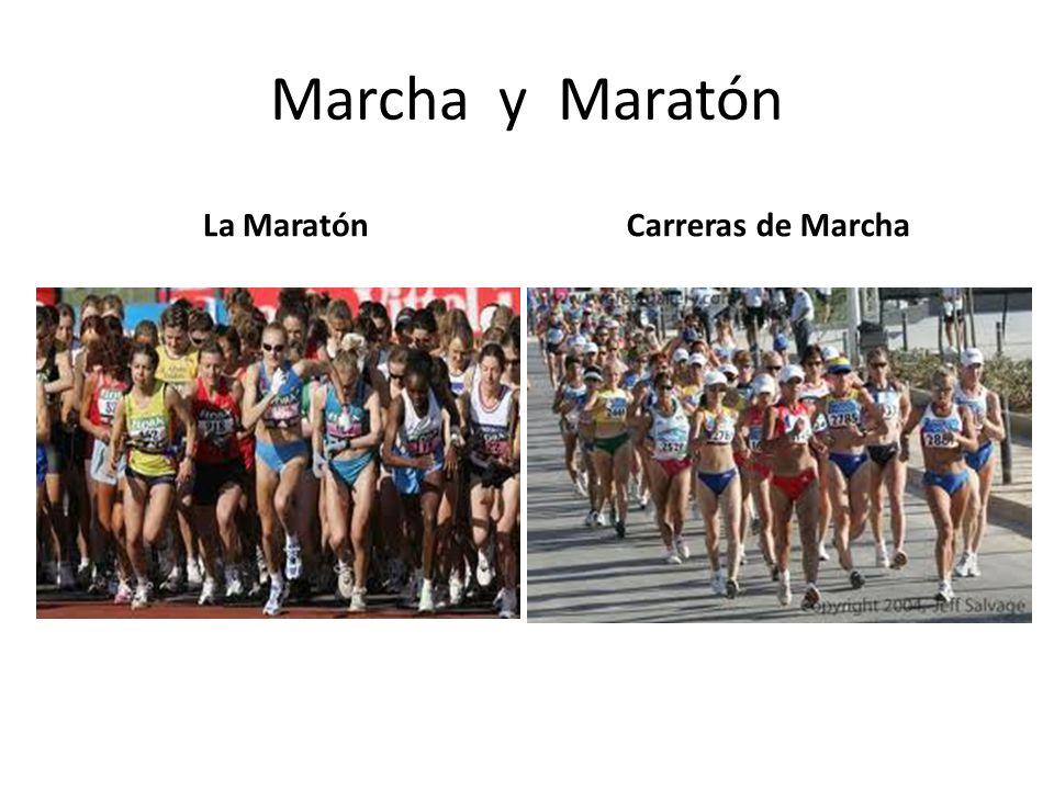 Maratón la prueba La maratón es una de las carreras oficiales olímpicas de resistencia que hay en Atletismo, carrera que no se disputa en pista pero si culmina en ésta, donde los atletas recorren 42.195 mts.