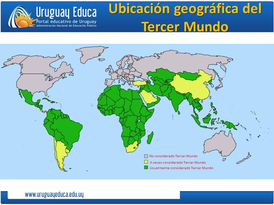 Ubicación geográfica del Tercer Mundo