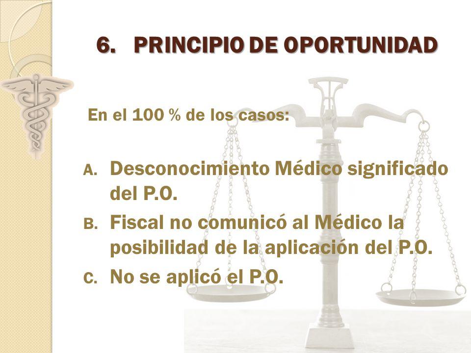 6.PRINCIPIO DE OPORTUNIDAD En el 100 % de los casos: A.