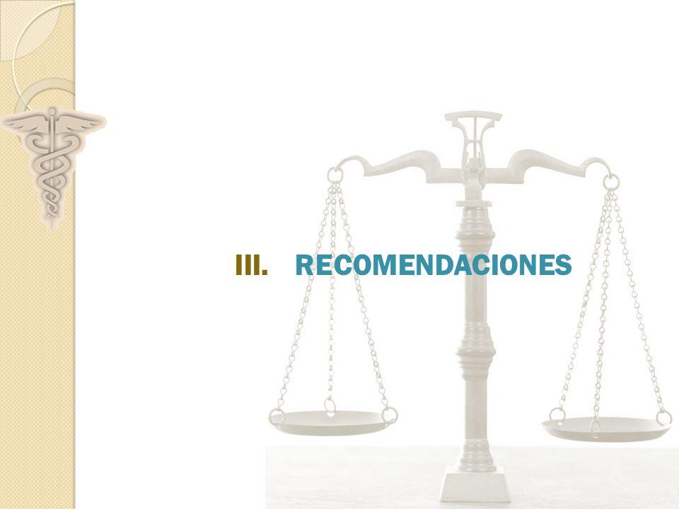 III.RECOMENDACIONES