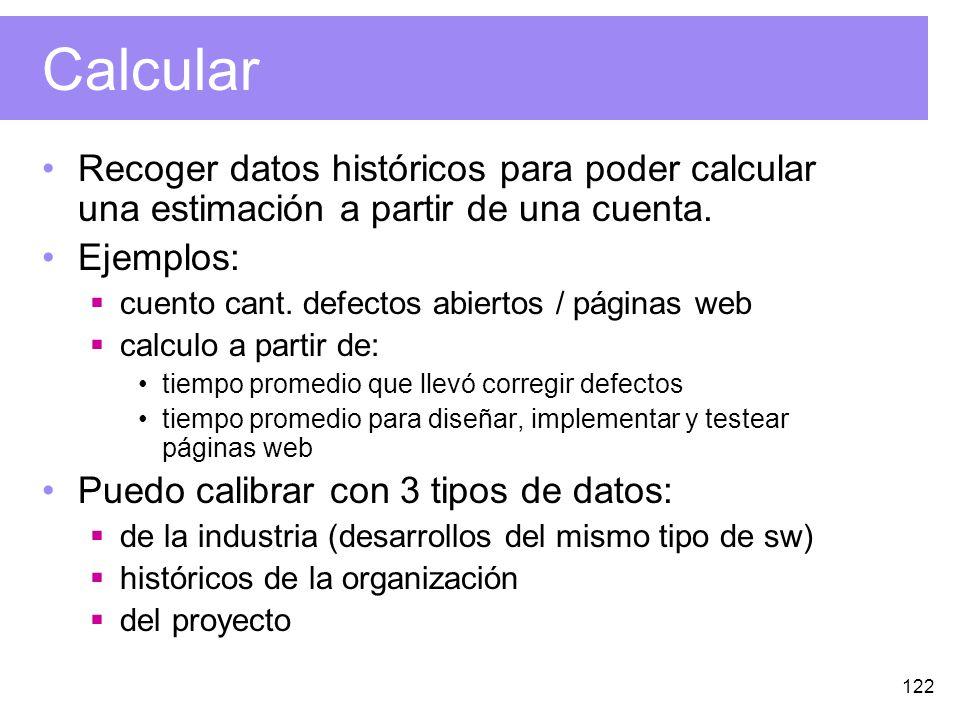 122 Calcular Recoger datos históricos para poder calcular una estimación a partir de una cuenta.