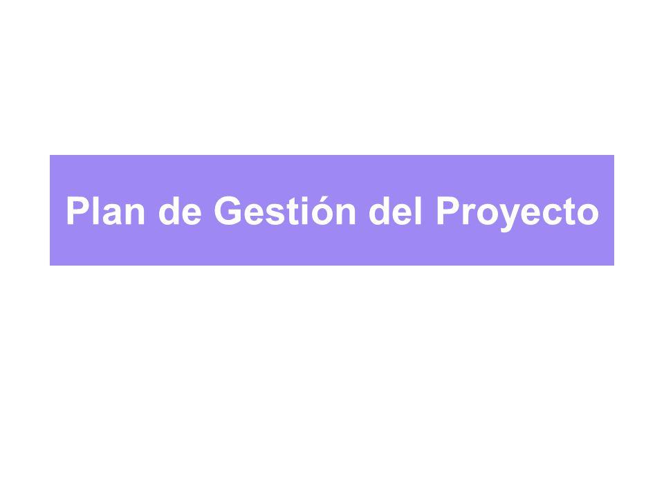 Plan de Gestión del Proyecto