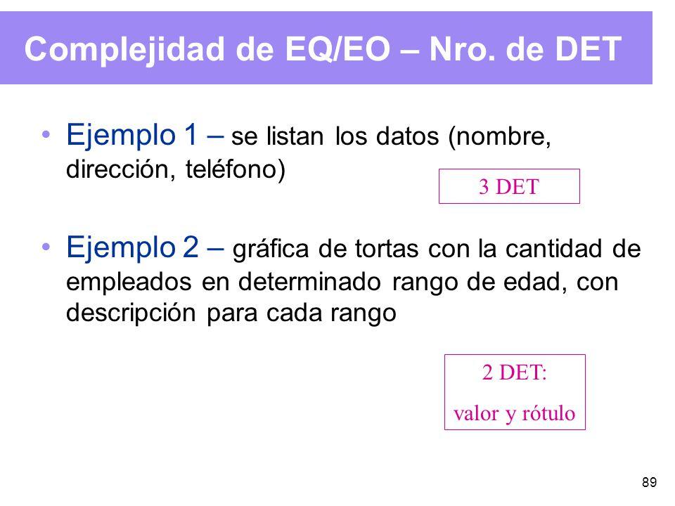 89 Complejidad de EQ/EO – Nro.