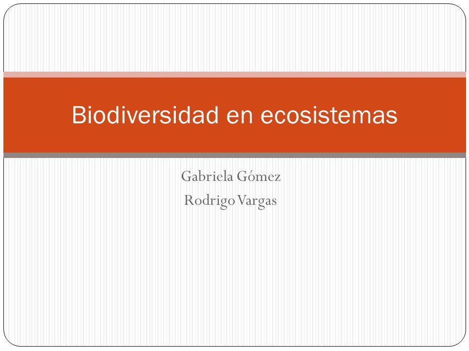 Gabriela Gómez Rodrigo Vargas Biodiversidad en ecosistemas