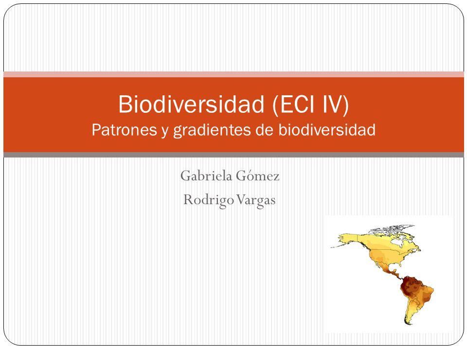 Gabriela Gómez Rodrigo Vargas Biodiversidad (ECI IV) Patrones y gradientes de biodiversidad