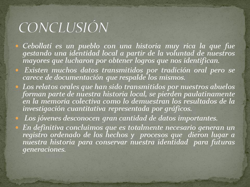 Cebollatí es un pueblo con una historia muy rica la que fue gestando una identidad local a partir de la voluntad de nuestros mayores que lucharon por obtener logros que nos identifican.