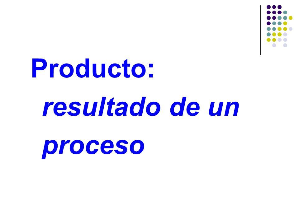 Definición ISO 9000: CALIDAD Grado en el que un conjunto de características o rasgos diferenciadores inherentes del producto (propios del mismo), le c
