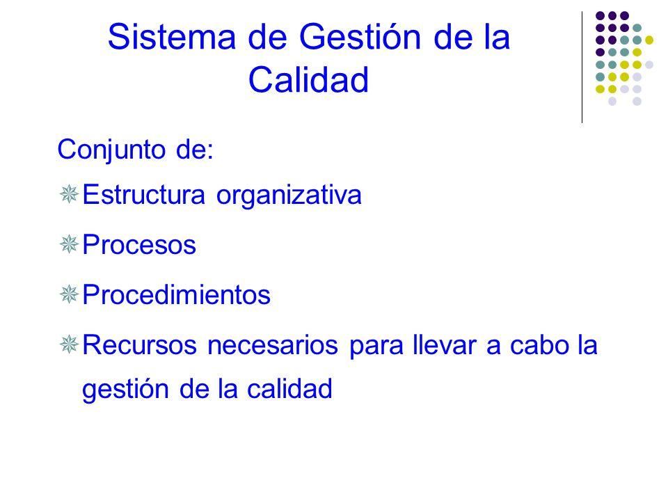 Liderazgo Organización enfocada al cliente Compromiso del personal Enfoque basado en los procesos Enfoque sistémico de la gestión Mejoramiento continu
