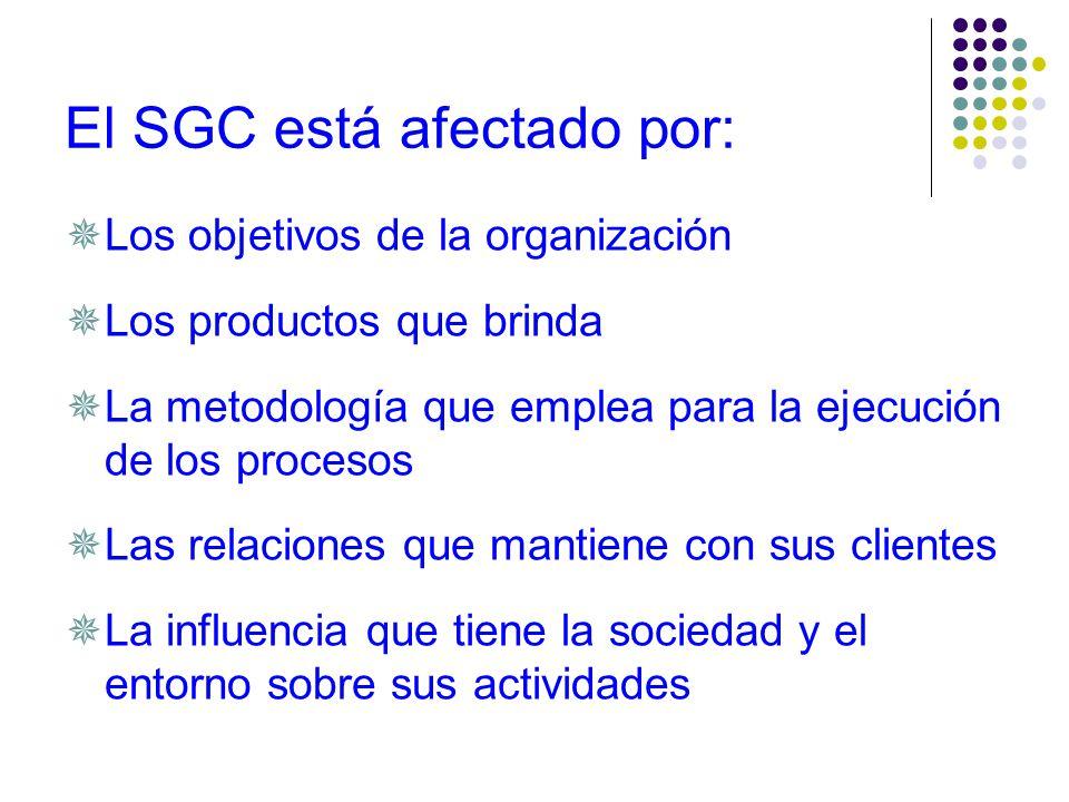 Las características del SC son: Analizar lo que se va a hacer (prevenir) Hacer lo que se ha dicho (controlar) Documentar los resultados (registrar)