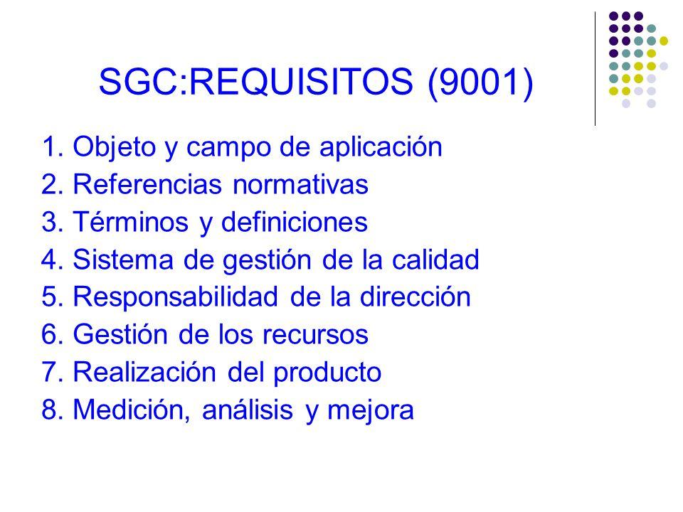 REQUISITOS DEL SGC ¯ Se encuentran en la Norma Internacional UNIT-ISO 9001:2008 ¯ La Norma UNIT-ISO 9004:2000 proporciona una guía para el diseño e im