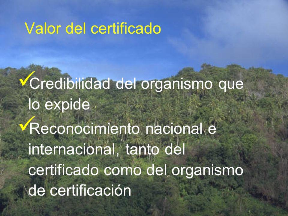 CERTIFICACIÓN Obligatoria (no v.a) Voluntaria