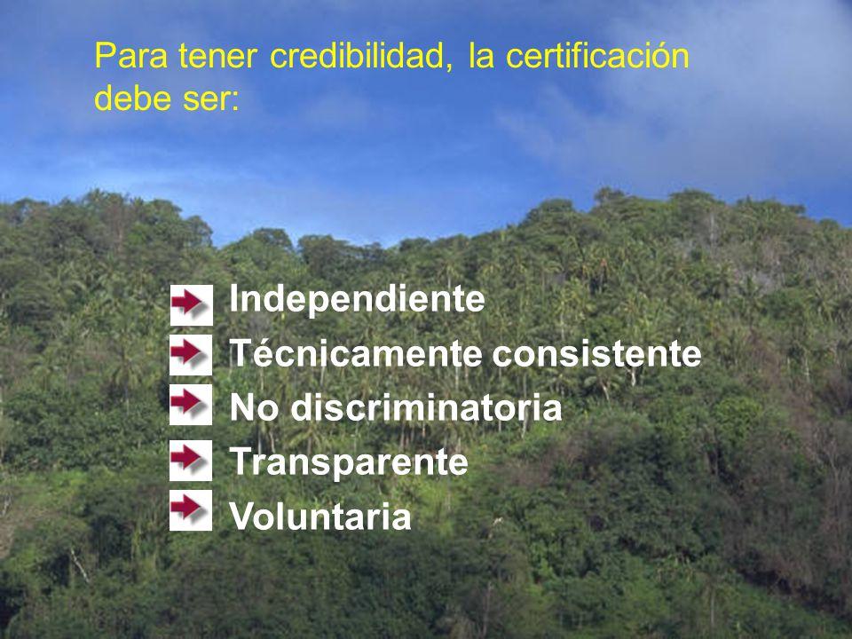 Valor del certificado Credibilidad del organismo que lo expide Reconocimiento nacional e internacional, tanto del certificado como del organismo de ce