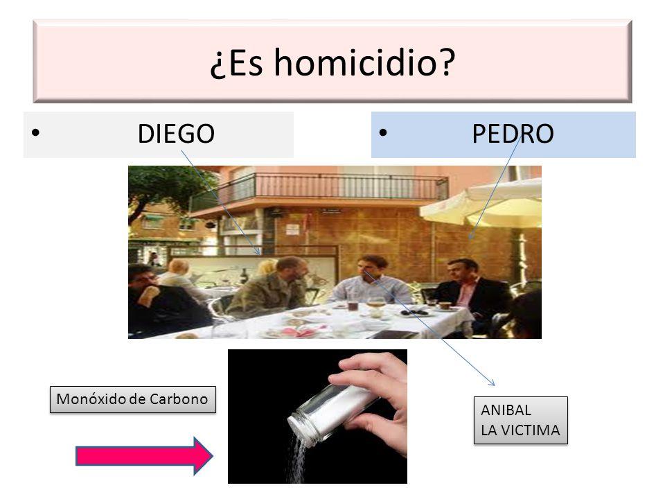 ¿Es homicidio? DIEGO PEDRO ANIBAL LA VICTIMA ANIBAL LA VICTIMA Monóxido de Carbono