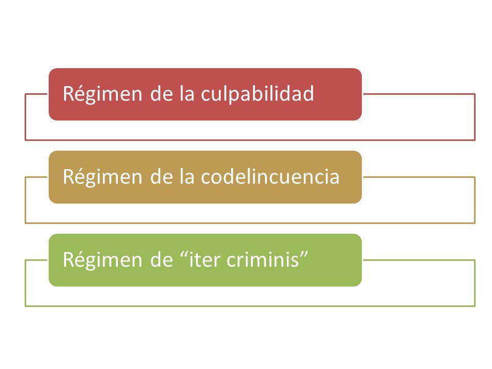 Régimen de la culpabilidadRégimen de la codelincuenciaRégimen de iter criminis