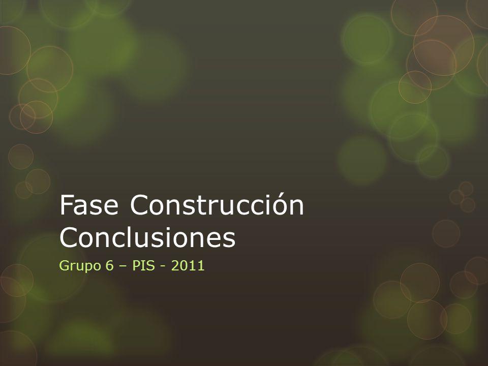 Objetivos de la Fase de Construcción 1 Obtener una versión beta del software (construido y con nivel de completitud y calidad adecuado para ser evaluado por el cliente).