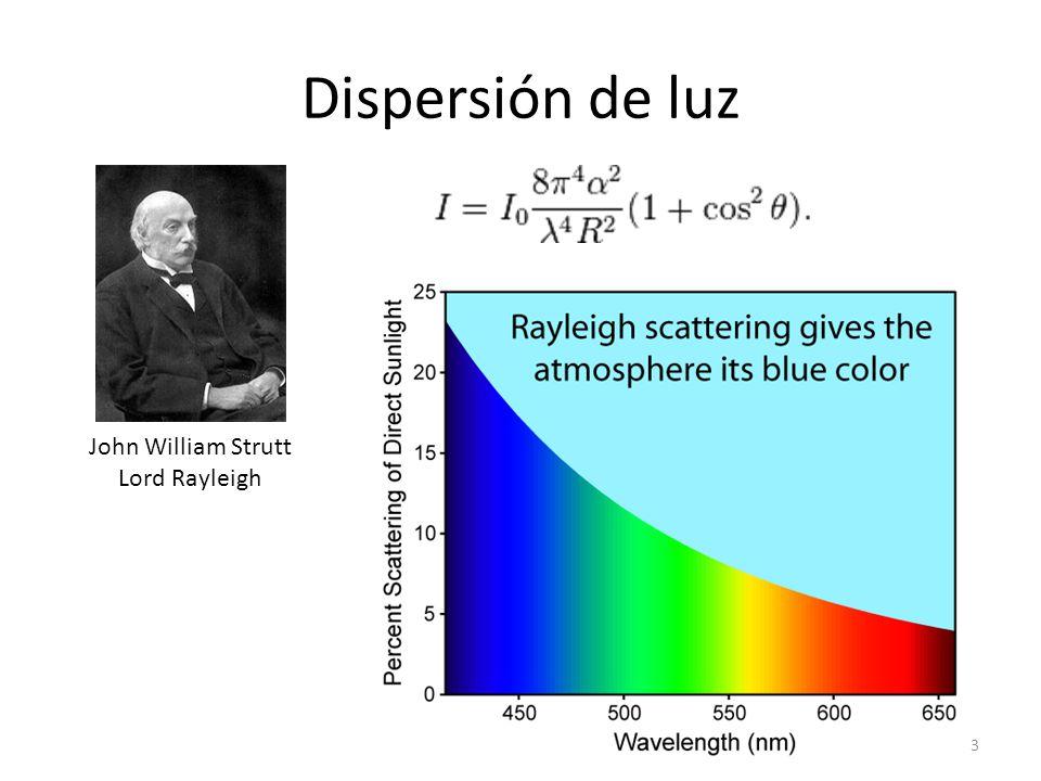Dispersión de luz John William Strutt Lord Rayleigh 3