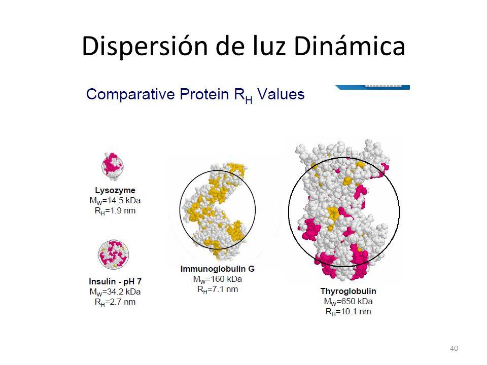 Dispersión de luz Dinámica 40