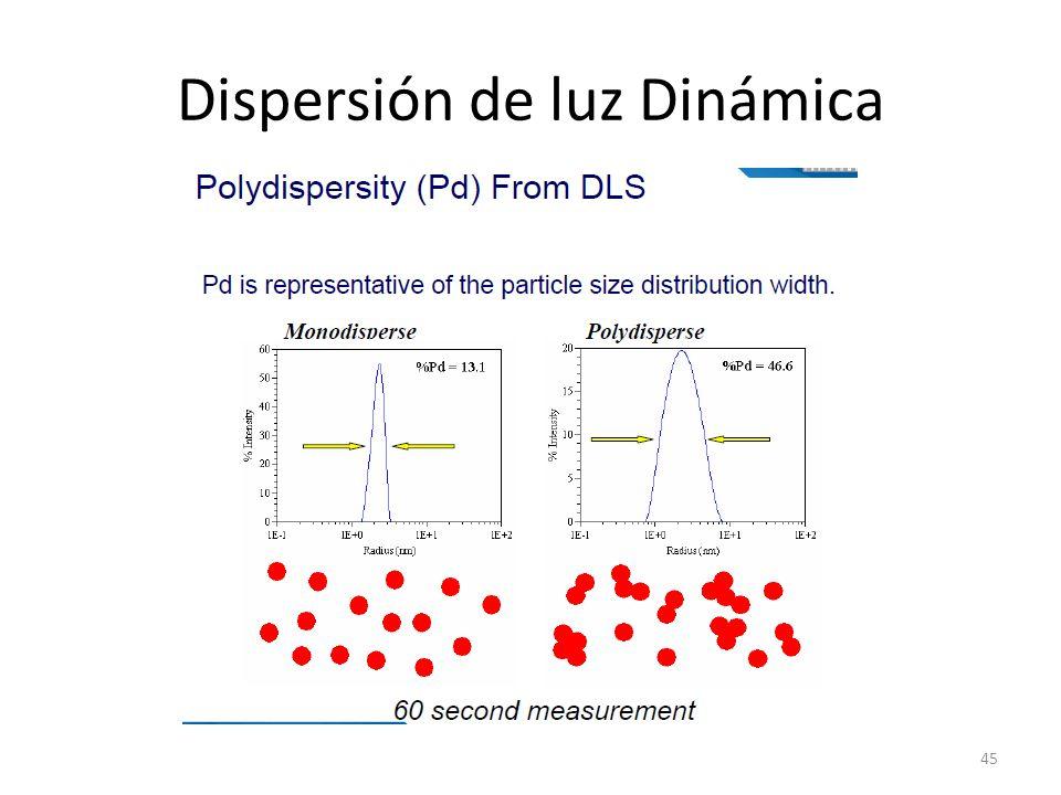 Dispersión de luz Dinámica 45